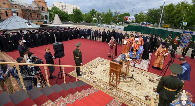 В Гомеле заложили часовню в честь святого князя Александра Невского