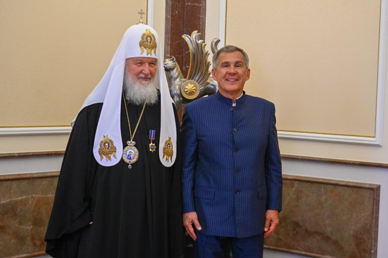 Патриарх Кирилл награжден орденом Дружбы Республики Татарстан