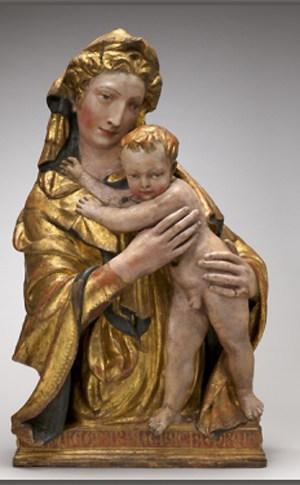В США отреставрировали редкую терракотовую скульптуру Богородицы XV века