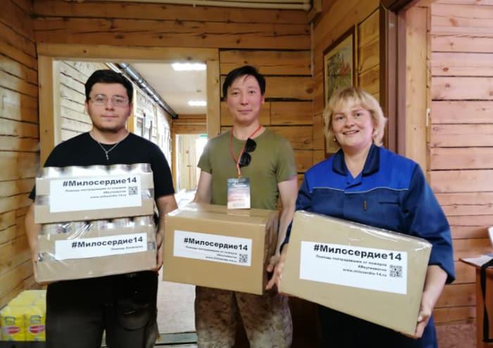 Якутская епархия оказывает продуктовую помощь пострадавшим от лесных пожаров