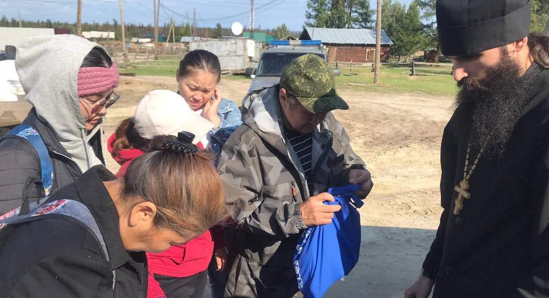 Якутская епархия передала медикаменты и продукты пострадавшим от пожаров