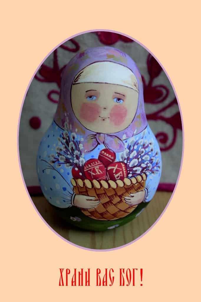 Пасхальная открытка Елены Карповой