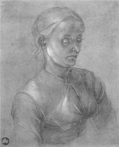 Альбрехт Дюрер. Портрет женщины (Агнес Дюрер).