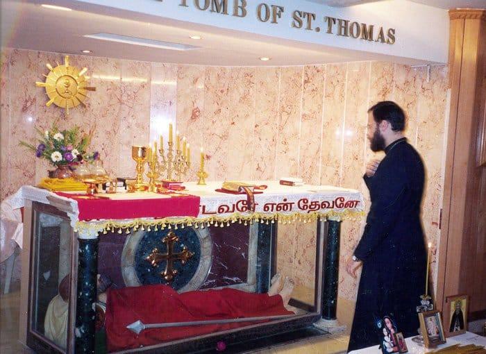У гроба апостола Фомы