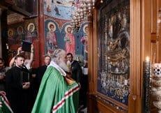 Патриарх Кирилл совершил молебен перед Иверской иконой Божией Матери