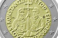 Евро с изображениями святых Кирилла и Мефодия все-таки выпустят, но без нимбов