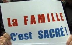 В Париже прошел многотысячный митинг против легализации однополых браков