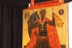 В архангельском музее впервые показали восстановленную древнюю икону святого Феодора Стратилата
