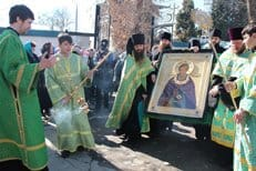 В Таджикистан принесена чтимая икона преподобного Сергия Радонежского с частицей мощей