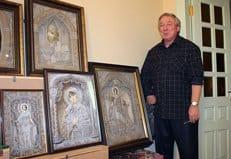 В «Ясной Поляне» представили уникальные иконы из льняной нити