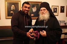 Греческий дзюдоист передал свою олимпийскую медаль в дар Богородице
