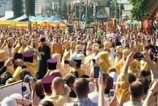 Около 20 тысяч человек помолились на праздничной литургии в Минске