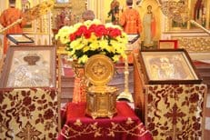 Ковчег с частицей мощей святого Георгия Победоносца принесен в Приамурье