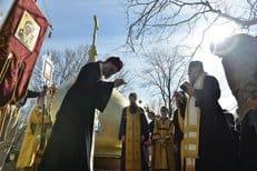 В штате Огайо установлены купол и крест на строящийся православный храм