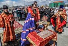 В Петропавловске-Камчатском заложили храм в честь преподобного Сергия Радонежского