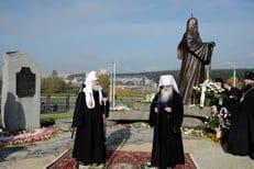 Патриарх Кирилл открыл памятник патриарху Алексию II в Минске