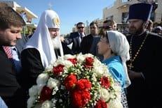 Патриарх Кирилл передал в дар храму Панагия Сумела частицу мощей святого Серафима Саровского