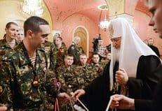 Патриарх Кирилл отметил заслуги военнослужащих Внутренних войск МВД России