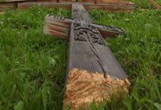 В Петербурге спилен крест над местом бывшего захоронения Распутина