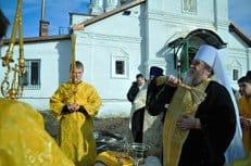 В Рязани освятили крест и купол для часовни в честь святой блаженной Любови Рязанской