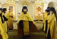 В Боголюбском храме Высоко-Петровского монастыря впервые за 84 года совершили богослужение
