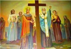 Православные верующие отмечают праздник Воздвижения Креста Господня