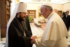 Митрополит Волоколамский Иларион встретился с Папой Римским Франциском I