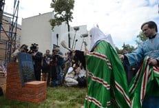 Патриарх Кирилл освятил закладной камень храма на территории ГУ МВД