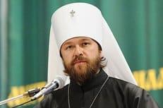 Церковь не может молчать, когда человеку навязываются секулярные ценности, считает митрополит Волоколамский Иларион