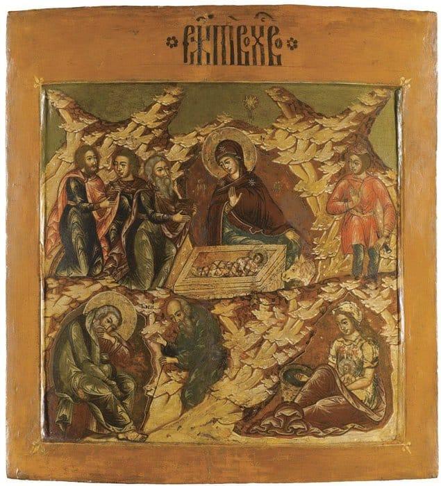 Рождество Христово. Икона из праздничного ряда иконостаса. XVII век