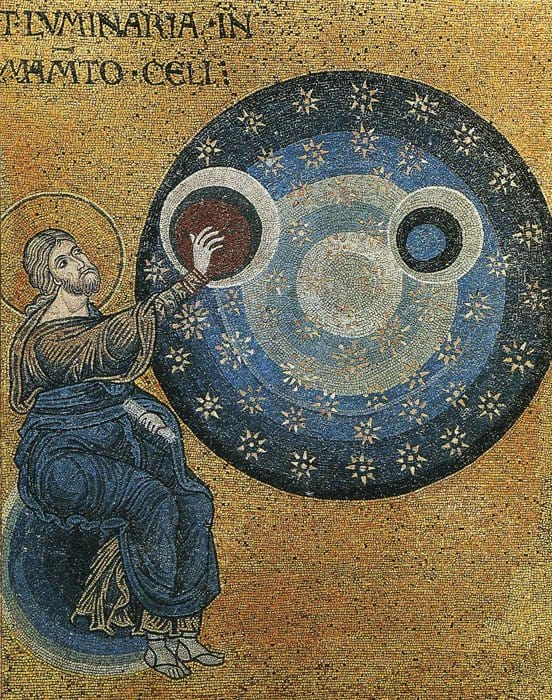 Сотворение мира; Византия; XII в., мозаика